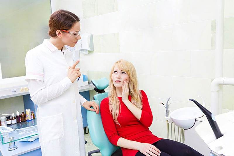 Пациент жалуется на боль