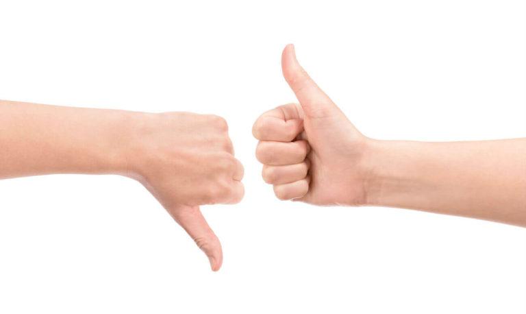Большой палец вверх и вниз
